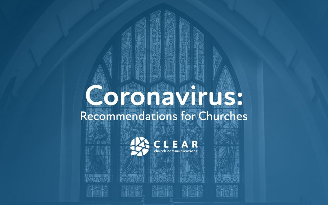 Coronavirus: Recommendations for Churches